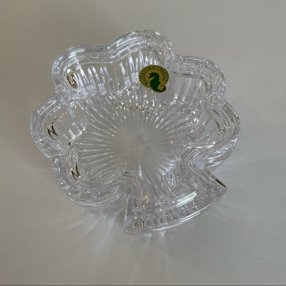 Waterford Pink Butterfly Lead Crystal Display